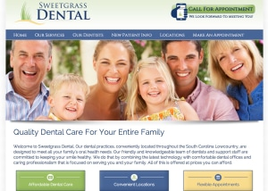 Sweetgrass Dental Website